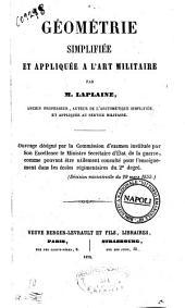 Géométrie simplifiée et appliquée à l'art militaire par M. Laplaine