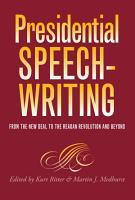 Presidential Speechwriting PDF