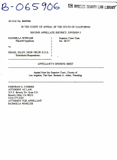 California. Court of Appeal (2nd Appellate District). Records and Briefs: B065906, Appellant's Opening, 02