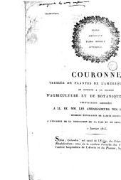 Couronne tressée de plantes de l'Amérique boréale et offerte à la Société d'agriculture et de botanique, de Gand ...