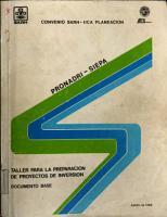 Taller para la Preparaci  n de Proyectos de Inversi  n  Documento base PDF