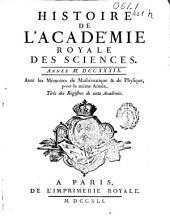 Histoire de l'Academie Royale des Sciences: année MDCCXXXIX, avec les mémoires de mathématique [et] de physique, pour la même année, tirés des registres de cette Académie