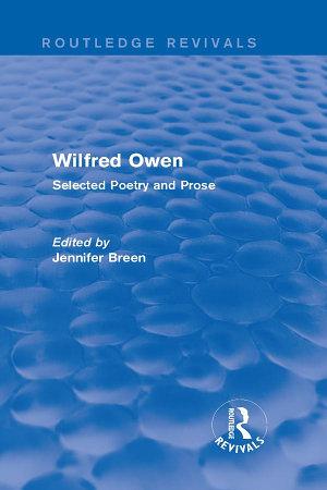 Wilfred Owen  Routledge Revivals  PDF