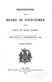 Proceedings of the Board of Councilmen of the City of New York: Volume 87