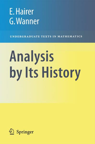 Download Analysis by Its History Book
