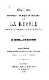 Mémoires historiques, politiques et militaires sur la Russie depuis l'année MDCCXXVII, jusqu'à MDCCXLIV: Volume2