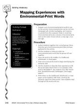 Environmental Print & Building Vocabulary: Mapping Experiences