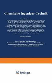 Chemische Ingenieur-Technik: Zweiter Band