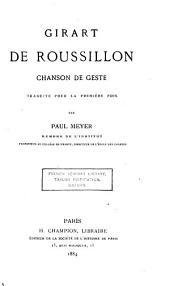 Girart de Roussillon: chanson de geste