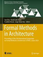 Formal Methods in Architecture PDF