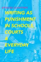 Writing as Punishment in Schools  Courts  and Everyday Life PDF