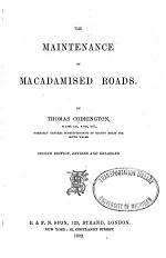 The Maintenance of Macadamised Roads