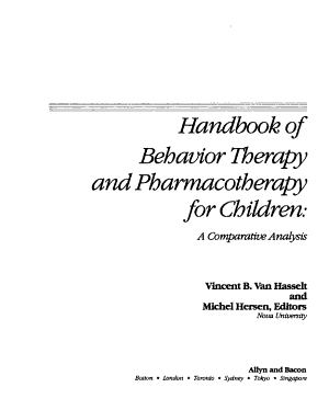 Handbook of Behavior Therapy and Pharmacotherapy for Children PDF