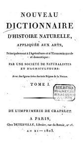Nouveau dictionnaire d'histoire naturelle, appliquée aux arts, principalement à l'agriculture et à l'économie rurale et domestique: avec des figures tirées des trois règnes de la nature. A - Apa, Volume1