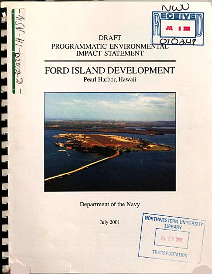 Programmatic EIS  Ford Island Development  Pearl Harbor PDF