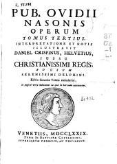 Pub. Ovidii Nasonis Operum tomus tertius
