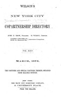 The Trow City Directory Co  s  Formerly Wilson s  Copartnership and Corporation Directory of New York City PDF