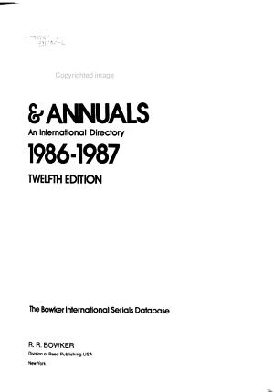 Irregular Serials   Annuals PDF