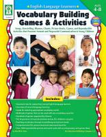 English Language Learners  Vocabulary Building Games   Activities  Ages 4   8 PDF