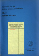 Regulations of the General Services Administration