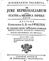 Diss. polem. de iure repressaliarum inter Status ac membra Imperii exule