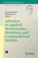 Advances in Applied Mathematics  Modeling  and Computational Science PDF