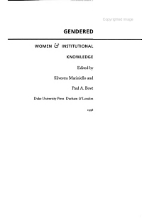 Gendered Agents PDF
