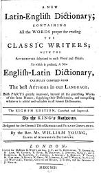 A New Latin English Dictionary Book PDF