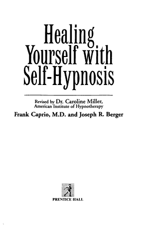 Healing Yourself with Self hypnosis PDF