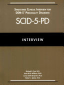 Structured Clinical Interview for DSM 5   Personality Disorders  SCID 5 PD  PDF