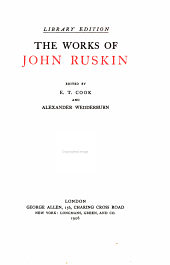 The works of John Ruskin: Volume 21