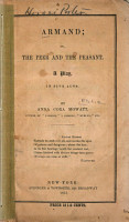 Armand  Or  The Peer and the Peasant PDF