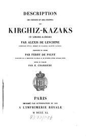 Description des Hordes, et des Steppes des Kirghiz-Kazaks
