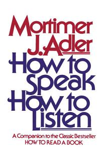 How to Speak How to Listen Book