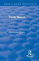 Routledge Revivals  David Mamet  1985  PDF