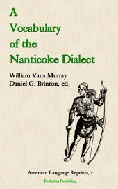 A Vocabulary of the Nanticoke Dialect