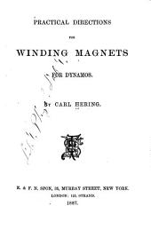 Practical Directions for Winding Magnets for Dynamos