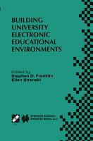 Building University Electronic Educational Environments PDF