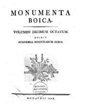 Monumenta Boica: Volume 18