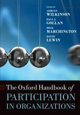 The Oxford Handbook of Participation in Organizations PDF