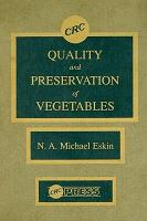 Quality and Preservation of Vegetables PDF