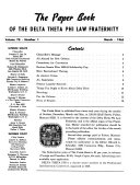 The Paper Book of the Delta Theta Phi Law Fraternity PDF
