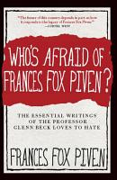 Who s Afraid of Frances Fox Piven  PDF