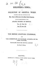 The Brihad Aranyaka Upanishhad: Volume 3