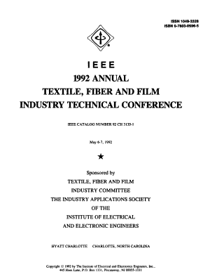 IEEE 1992 Annual Textile, Fiber and Film Industry Technical Conference