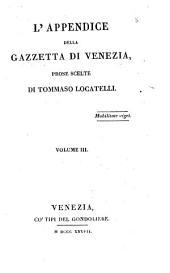 L'appendice della gazzetta di Venezia: Volume 3
