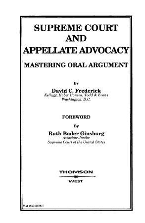 Supreme Court and Appellate Advocacy PDF