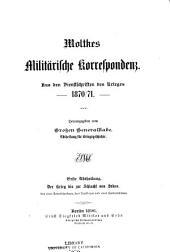 Moltkes ̲militärische Werke: Band 1,Teil 3