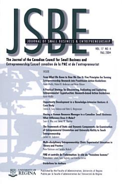 Journal of Small Business and Entrepreneurship PDF