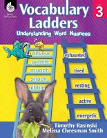 Vocabulary Ladders  Understanding Word Nuances Level 3 PDF